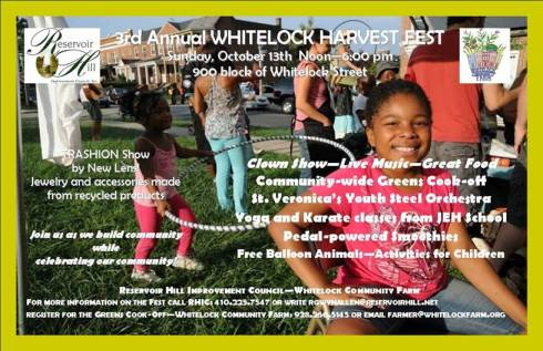 2013 Whitelock Harvest Fest postcard